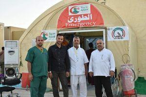 عکس/ ساختِ اولین بیمارستان میدانی توسط حشدالشعبی