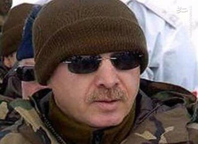 رجب طیب اردوغان با لباس نظامی در مانور ارتش