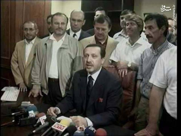 رجب طیب اردوغان پس از اتمام دوره سربازی