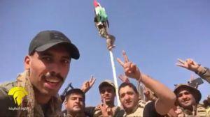فیلم/ اهتزاز پرچم عراق در کرکوک