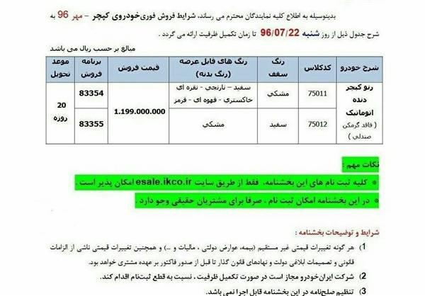 افزایش قیمت محصول وارداتی ایران خودرو با حذف آپشن!