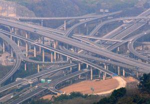 پیچیدهترین پل روگذر جهان +عکس