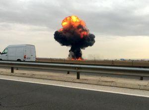 فیلم/ سقوط جنگنده F۱۸ در جنوب کالیفرنیا