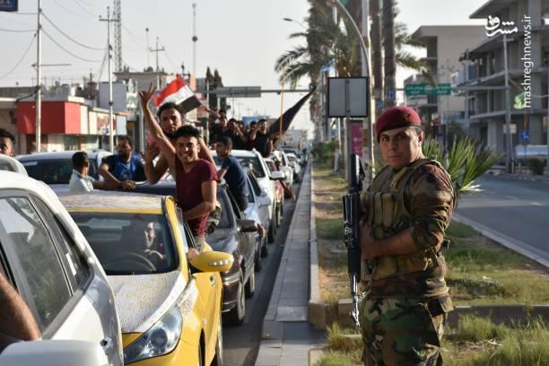شادمانی مردم کرکوک پس از ورود نیروهای عراقی