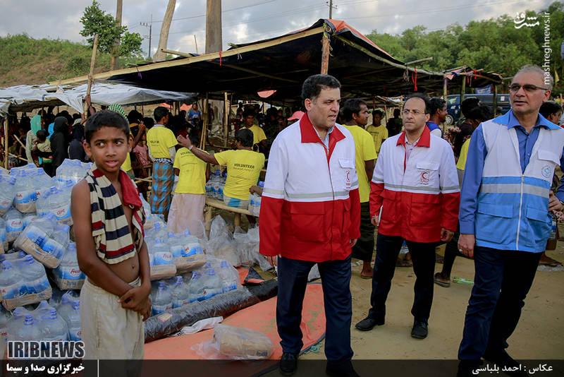 کمکهای هلالاحمر به آوارگان میانماری