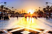 طلوع زیبای خورشید در کربلا