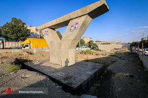 عکس/ پلی که پس از ۵ سال ناتمام ماند
