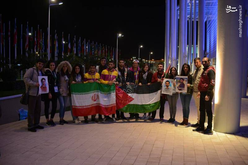 تصاویر شهید حججی و احمدی روشن در دست دانشجویان ضدامپریالیستی جهان در روسیه