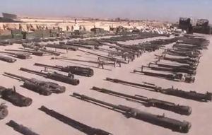 فیلم/ کشف انبار بزرگ سلاحهای داعش در سوریه