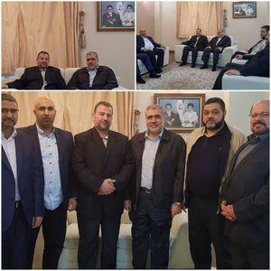 عکس/ اعضای هیات بلند پایه حماس در تهران