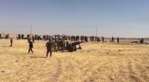 فیلم/ حمله توپخانهای نیروهای بارزانی به ارتش عراق
