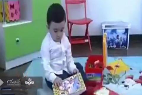 فیلم/ کودک 15 ماهه اردبیلی که میتواند بخواند