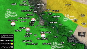 ضد حملات سنگین داعش برای اشغال مجدد شهر المیادین/ نیروهای جبهه مقاومت به ورودی مناطق تحت تصرف نیروهای کُرد در شرق دیرالزور رسیدند + نقشه میدانی