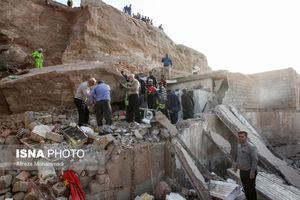 عکس/ ریزش مرگبار کوه بر منازل مسکونی در اهواز