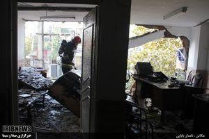 عکس/ انفجار گاز در آمل