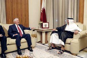 عکس/ دیدار وزیر خارجه آمریکا با امیر قطر
