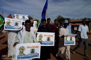 عکس/ راهپیمایی شیعیان نیجریه در حمایت از شیخ زکزکی