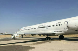 عکس/ ترکیدن تایر هواپیمای کاسپین در مشهد