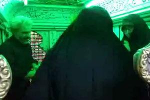 فیلم/ خانواده شهید حججی داخل ضریح حضرت رقیه (س)