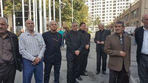 عکس/ حضور پیشکسوتان پرسپولیس و اهالی ورزش در مراسم تشییع مرحوم آشتیانی