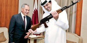 عکس/ هدیه متفاوت وزیر دفاع روسیه به امیر قطر