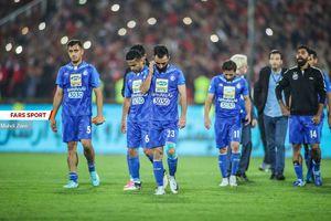 عکس/ بازیکنان استقلال پس از باخت در دربی85