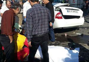 تصادف مرگبار تیبا با کرکره مغازه +عکس