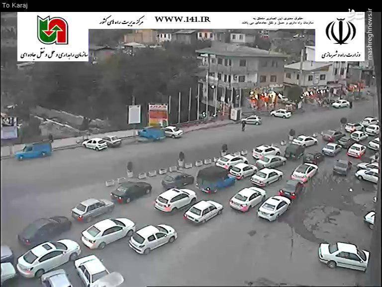 محور چالوس-کرج مرزن آباد ساعت 16:30