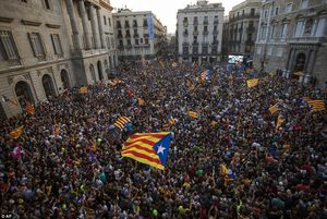 عکس/ تظاهرات استقلالطلبان در بارسلون