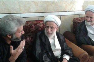 عکس/ دیدار آیت الله جنتی با خانواده شهید حججی