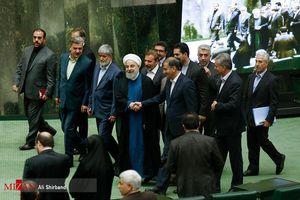 عکس/ همراهان روحانی در مجلس