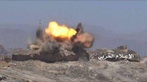فیلم/ انفجار خودرو مزدوران سعودی در یمن