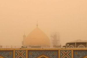 عکس/ گنبد حرم حضرت علی(ع) در گردوغبار امروز نجف