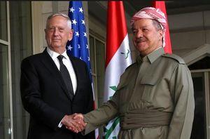اسناد کمک آمریکاییها برای جدایی اقلیم کردستان/ حامی منافقین به داد بارزانی رسید +عکس