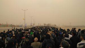 عکس/ گرد و غبار در مرز مهران