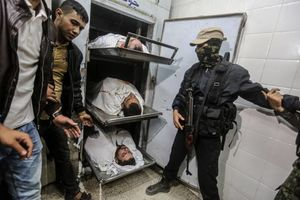 شهدای حمله رژیم صهیونیستی به تونلی در غزه
