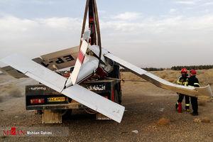 سقوط هواپیمای تفریحی آموزشی در مشهد