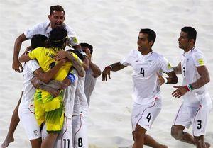 ایران گام اول را محکم برداشت/ پیروزی پر گل تیم ملی فوتبال ساحلی برابر پاراگوئه + فیلم
