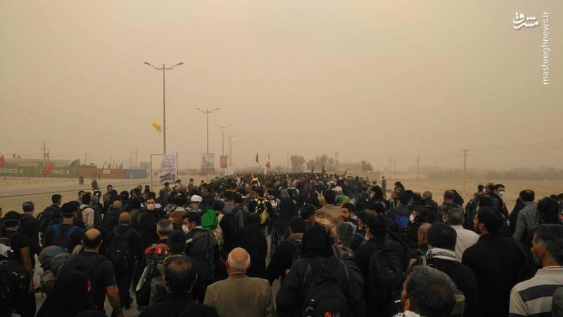 گردو غبار در مرز مهران