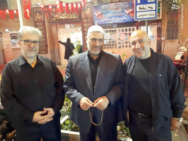 حاج اکبر صباغیان پس از بازگشت از سفر حج - 1396
