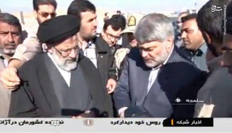 حاج اکبر صباغیان در کنار حجت الاسلام رییسی