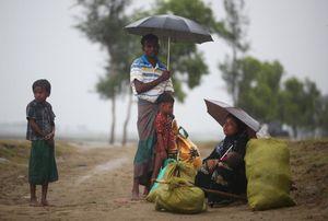 عکس/ روزگار سخت آوارگان میانماری