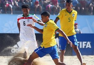 شکست ملی پوشان ساحلی مقابل برزیل