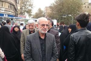 عکس/ استاندار تهران در راهپیمایی ۱۳ آبان