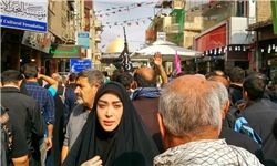 خانم بازیگر در راهپیمایی اربعین +عکس