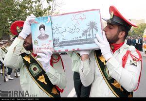 عکس/ تشییع پیکر ۵ شهید نیروی انتظامی