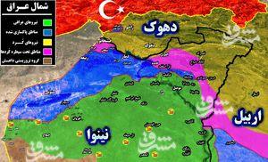 آخرین تحولات میدانی کردستان عراق؛ نیروهای بسیج مردمی آماده ورود به گذرگاه راهبردی «فیشخابور» + نقشه میدانی