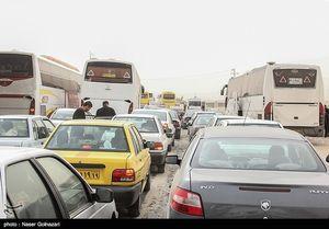 ترافیک فوقسنگین در ورودی شهر تهران/ ترافیک در جادههای هراز و فیروزکوه سنگین است