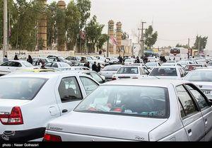 ترافیک پرحجم در مسیر بازگشت زائران اربعین
