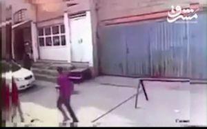 فیلم/ لحظه انفجار تروریست انتحاری در کرکوک